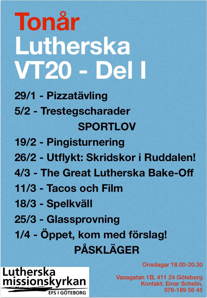 Affisch Tonår VT20 till Påsk
