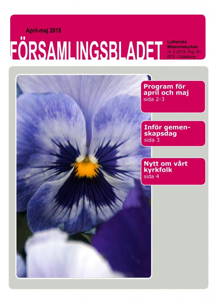 Församlingsblad 2015-2