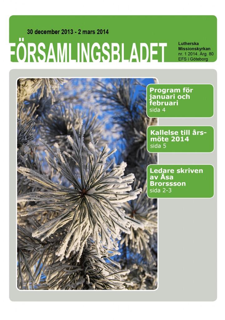 Församlingsblad nr1 2014