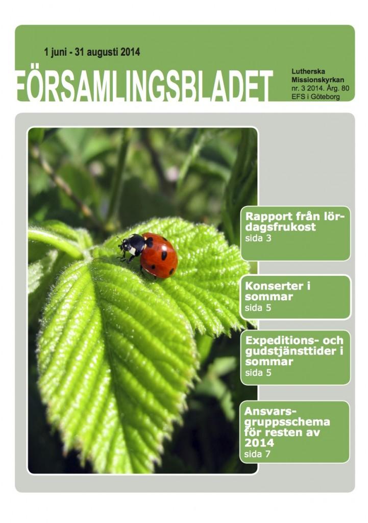 Församlingsblad nr3 2014 framsida