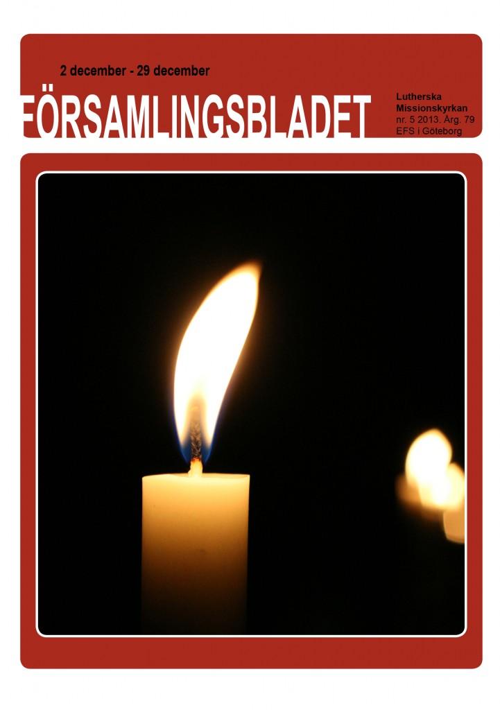 Församlingsblad nr5 2013 framsida