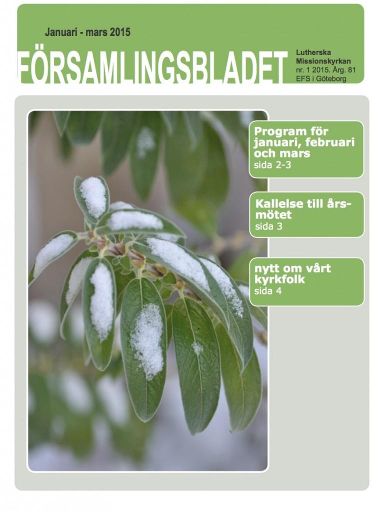Församlingsblad 2015-1 framsida