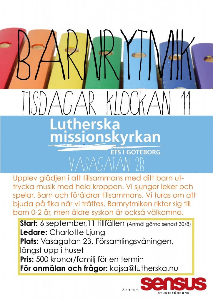Barnrytmik HT-16 senast anmälan