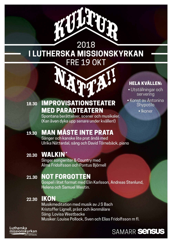 KULTURNATTA 2018 rätt affisch