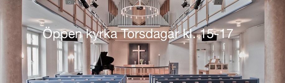 Öppen kyrka torsdagar Kl. 15-17