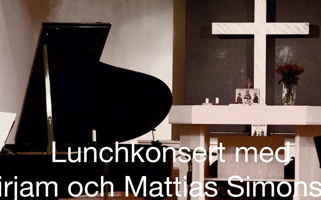Lunchkonsert med Mirjam och Mattias Simonsson